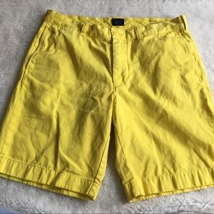 J.Crew Mens Yellow Stanton Shorts Size 33